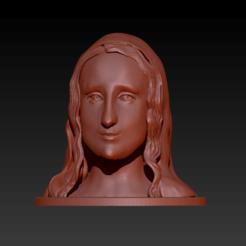 Foto Mona Lisa2.png Télécharger fichier STL Mona Lisa 3D • Plan à imprimer en 3D, manzanitalm123