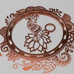 dibujjo1 mandala birdlove2.JPG Télécharger fichier STL Mandala de l'amour des oiseaux • Plan pour impression 3D, manzanitalm123