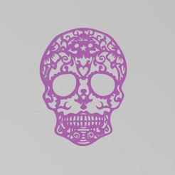 calavera1.JPG Download STL file Skull Day of the Dead • 3D printing object, manzanitalm123