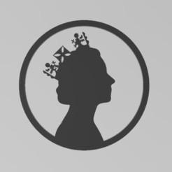 elizabeth2a.JPG Download STL file Queen Elizabeth II The Crown • Template to 3D print, manzanitalm123