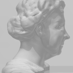 Queen Elizabeth II 2.PNG Download OBJ file Queen Elizabeth II Bust • 3D printer design, manzanitalm123