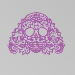 calavera2b.JPG Download STL file Mexican Skull Day of the Dead • 3D printable object, manzanitalm123