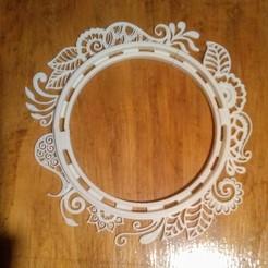 IMG_20201122_084016.jpg Download STL file Floral Frame • 3D printer template, manzanitalm123