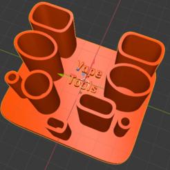 """Capture d'écran_2020-04-03_03-25-57.png Télécharger fichier STL gratuit vape tools holder """" support outils e-cig """" • Modèle pour imprimante 3D, psilo92"""