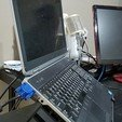 "Download free STL Laptop Stand for 1"" base Laptop ( DELL Latitude ), wickedmonkey3d"