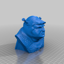 Download free 3D printer files Trump Shrek with Base, BreakDansen