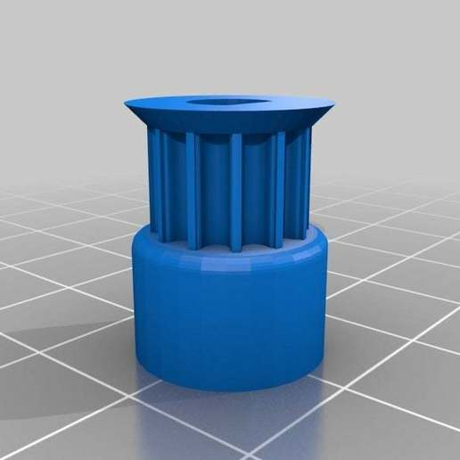 Pulley_T-MXL-XL-HTD-GT2_N-tooth.jpg Download free SCAD file QU-BD Two-Up Replacement Part QQ 12-HTD3-05 Aluminum Pulley • 3D print template, QB89Dragon
