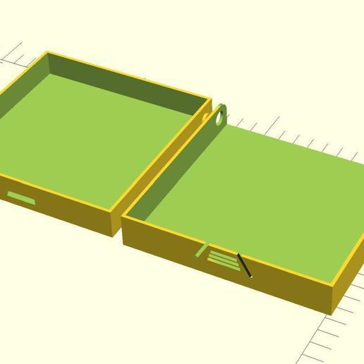 Download free 3D printing designs Hinged case, QB89Dragon
