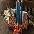 IMG_20200304_075401.jpg Download free STL file Pencil Holder With Storage • 3D printing model, jhaig101