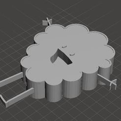 popcornstl.JPG Download free STL file Rejected Cartoon Cloud • Object to 3D print, Moobly