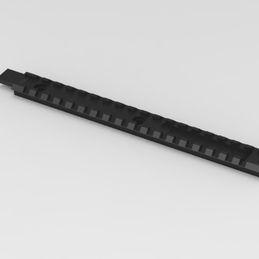 Download free 3D printing designs AK dust cover rail, Infrastructure_Airsoft_Parts