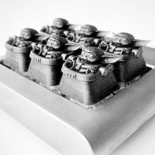 Download free 3D printer files Baby Yoda Artisan Keycap, chinakeycapclones