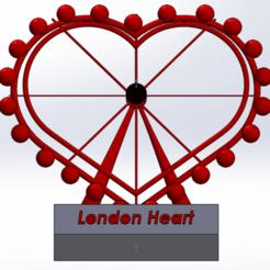 Download free 3D printer designs Not London eye But London Heart, MostafaGad