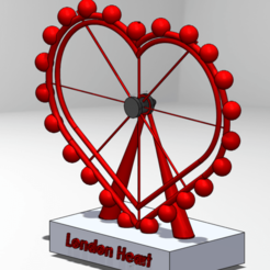 Download free 3D printer files London eye VS London Heart, MostafaGad