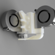 Download free STL file E3D V6 X Carriage Mount W/ 2XDuct Fans • 3D printable template, KasaTech