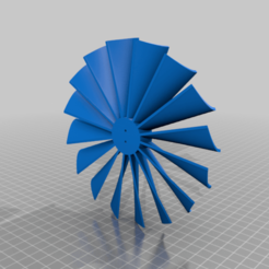 Download free 3D printing models Turbine Fan for BE1806-2300KV Electric Motor, KasaTech
