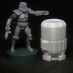 mini w fuel (black).jpg Download free STL file Star Wars Legion scale Rhydonium Fuel Canister • 3D printer model, Bountyhunterxx5