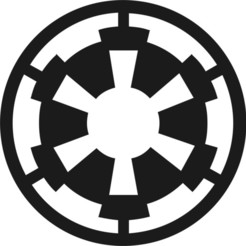 Download free STL file Star Wars Imperial Seal (Scaleable) • 3D printing template, Bountyhunterxx5