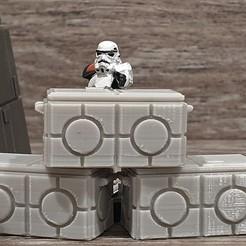 Crates.jpg Télécharger fichier STL gratuit La Légion de la Guerre des étoiles à l'échelle de la caisse d'armes impériale • Plan pour imprimante 3D, Bountyhunterxx5