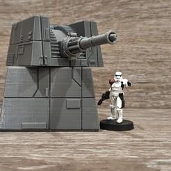 Descargar Modelos 3D para imprimir gratis Escala de la Legión de Star Wars Turbo Láser, Bountyhunterxx5