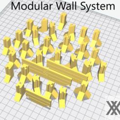 Descargar modelo 3D gratis Sistema modular de paredes y barricadas para juegos de guerra, Bountyhunterxx5