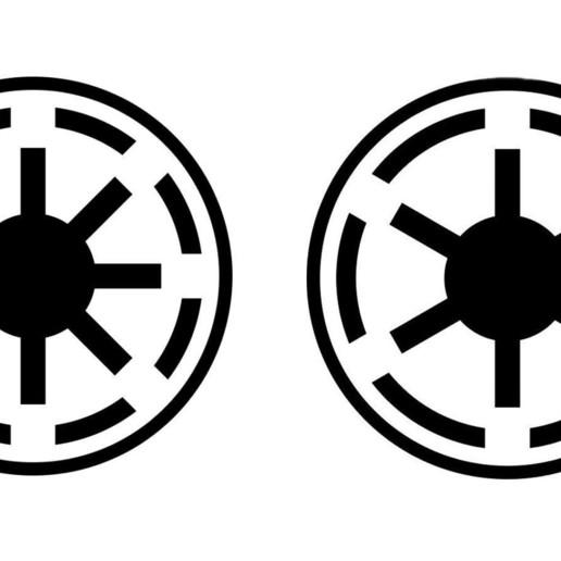 Download free STL Star Wars Galactic Roundel (Scaleable), Bountyhunterxx5