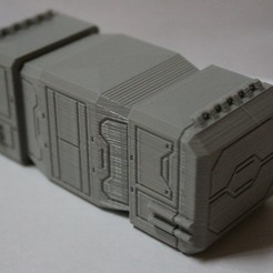 IMG_2370.JPG Download free STL file Star Wars Legion scale Medium Cargo Container • 3D printable template, Bountyhunterxx5