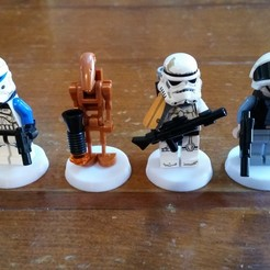 Télécharger objet 3D gratuit Base Lego Minifigure (27mm), Bountyhunterxx5