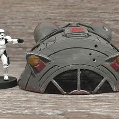 Télécharger fichier imprimante 3D gratuit Star Wars Légion à l'échelle de la République Nacelle d'évasion, Bountyhunterxx5
