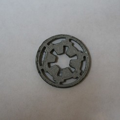 Download free 3D printing templates Star Wars Imperial Seal (Scaleable), Bountyhunterxx5