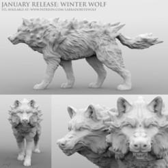 Download 3D model Winter Wolf (Snarling), LabradoriteWolf