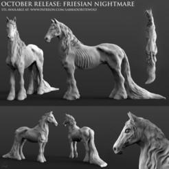 Friesian Nightmare Patreon Release.jpg Download STL file Friesian Nightmare • 3D printer object, LabradoriteWolf