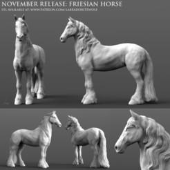 Friesian Horse Patreon Release.jpg Download STL file Friesian Horse • 3D printing model, LabradoriteWolf