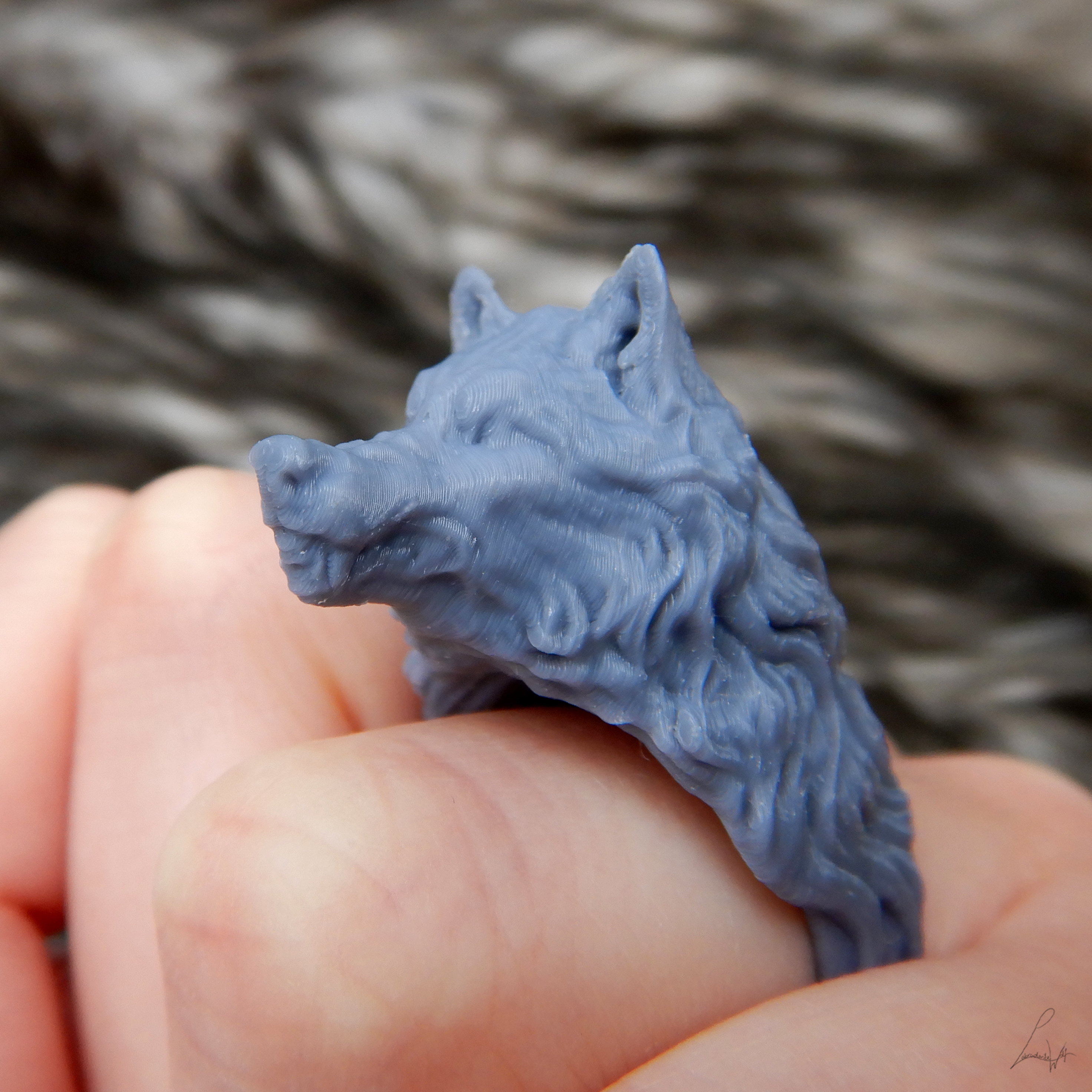 Cults 3.jpg Download free STL file Two Wolves - Set of Rings • 3D printing design, LabradoriteWolf