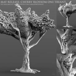 Cherry Blossom Oni Treant Patreon Release.jpg Download STL file Cherry Blossom Oni Treant • 3D printable design, LabradoriteWolf