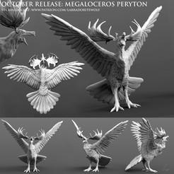Megaloceros Peryton Patreon Release merged.jpg Download STL file Megaloceros Peryton • 3D printing model, LabradoriteWolf