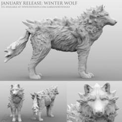 Download 3D printing designs Winter Wolf (Neutral), LabradoriteWolf