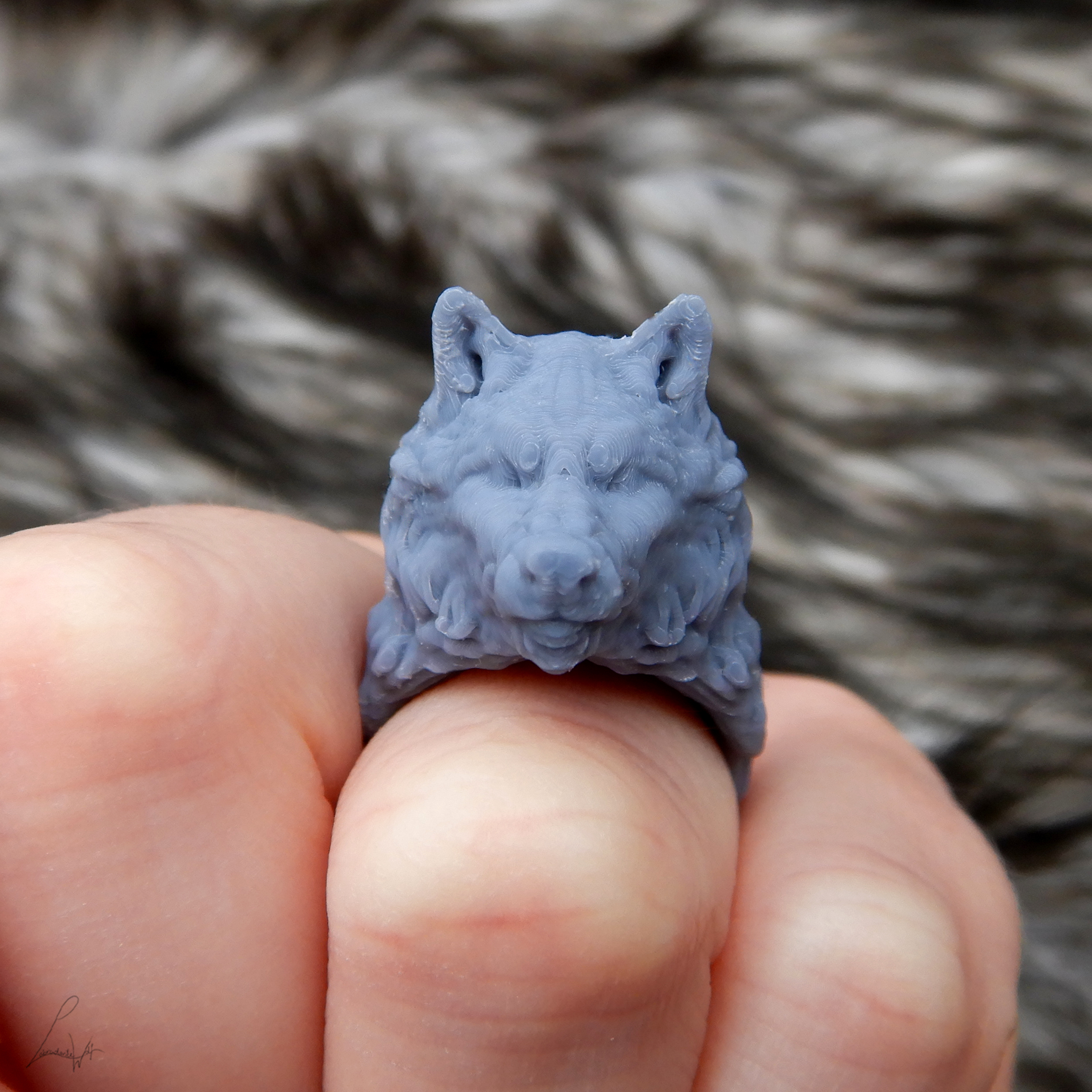 Cults 4.jpg Download free STL file Two Wolves - Set of Rings • 3D printing design, LabradoriteWolf