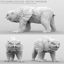 Download 3D print files Arctic Owlbear , LabradoriteWolf