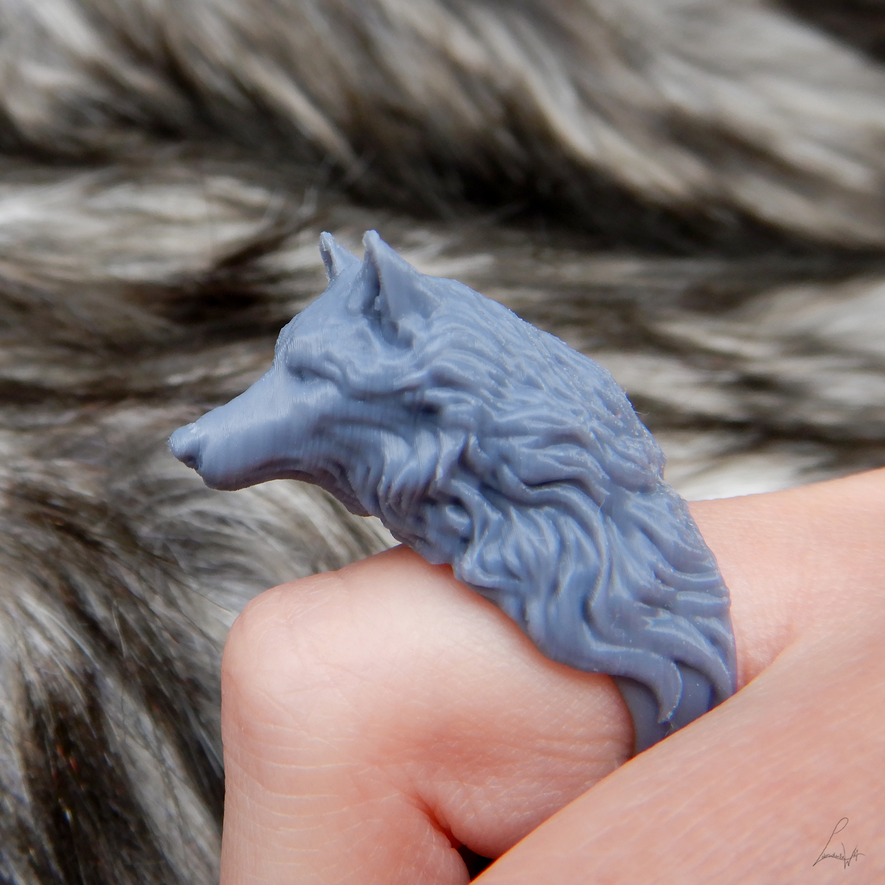 Cults 5.jpg Download free STL file Two Wolves - Set of Rings • 3D printing design, LabradoriteWolf