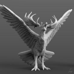 Megaloceros peryton insta.jpg Download STL file Megaloceros Peryton • 3D printing model, LabradoriteWolf
