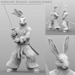 Download 3D print files Samurai Rabbit, LabradoriteWolf