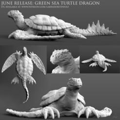 Télécharger plan imprimante 3D Tortue verte dragon, LabradoriteWolf