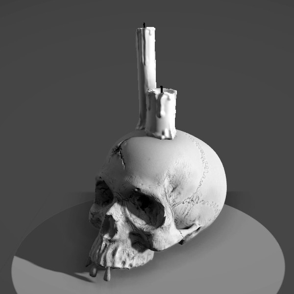 Skull_Candle_dm.jpg Download STL file Skull Candle • 3D printable object, MWopus