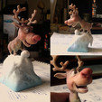 Download STL file Rudolph, tRed Nose Reindeer • 3D printing template, MWopus
