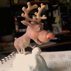 3D printer files Rudolph, tRed Nose Reindeer, MWopus