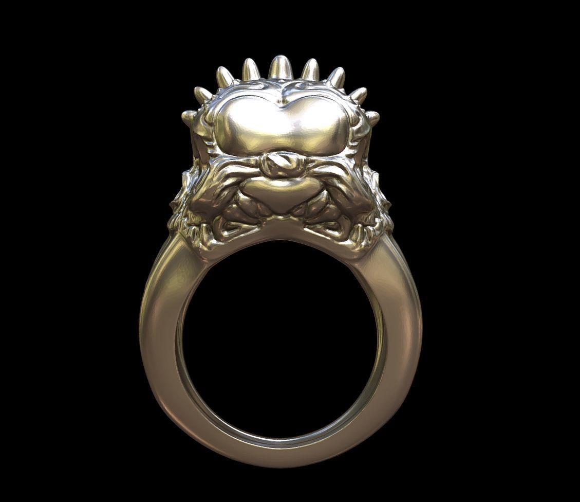 Punk rings by mwopus - 3D model - Sketchfab20180119-005872.jpg Download STL file Punk rings • 3D printable template, MWopus