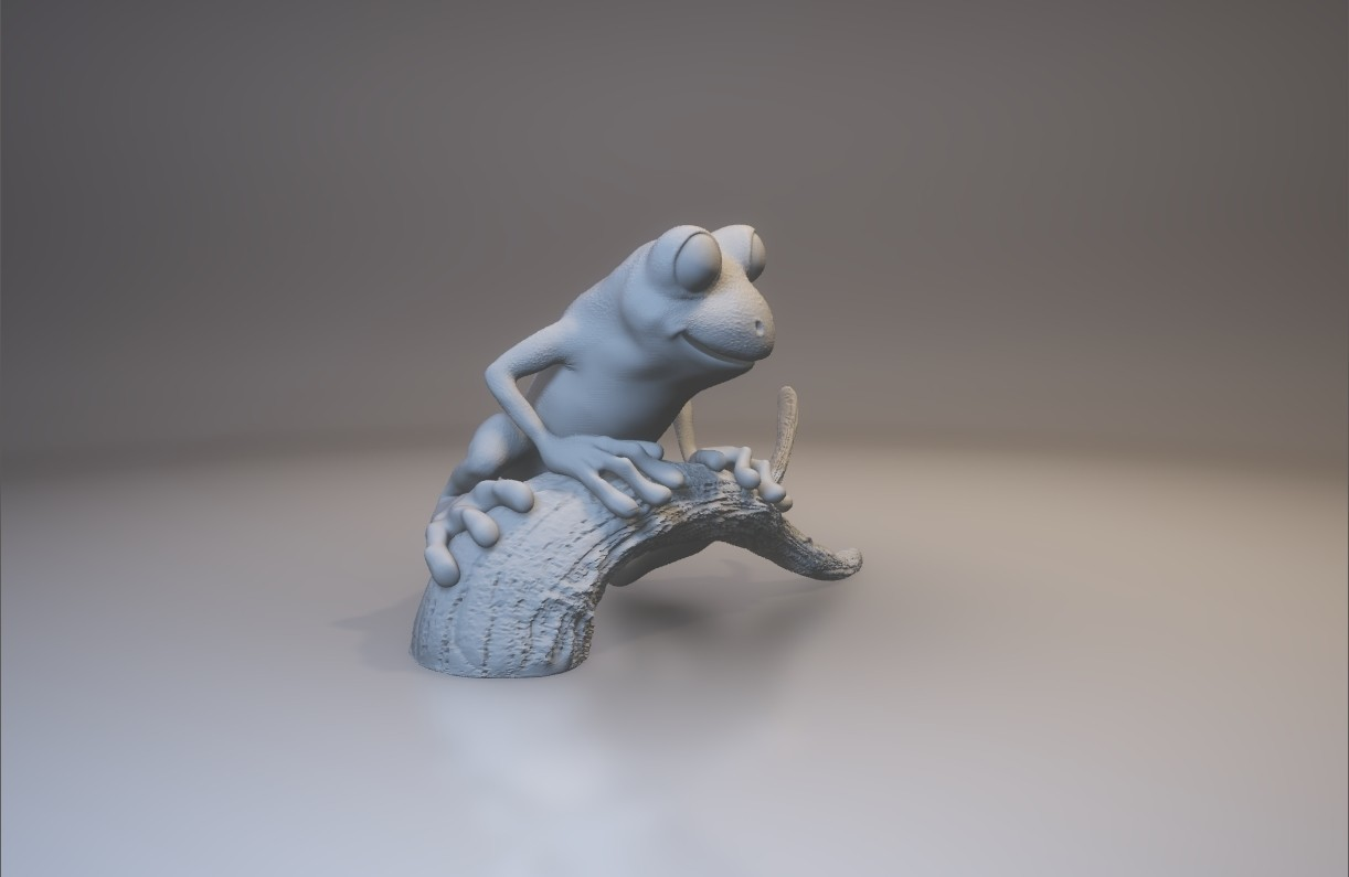 treeFrog_0303_print_stl.stl - View 3D20170731-004022.jpg Download STL file Tree Frog • 3D print template, MWopus