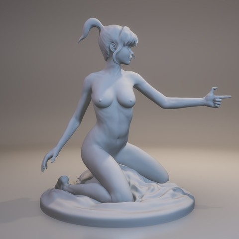 Manga Girl 3D printer file, MWopus