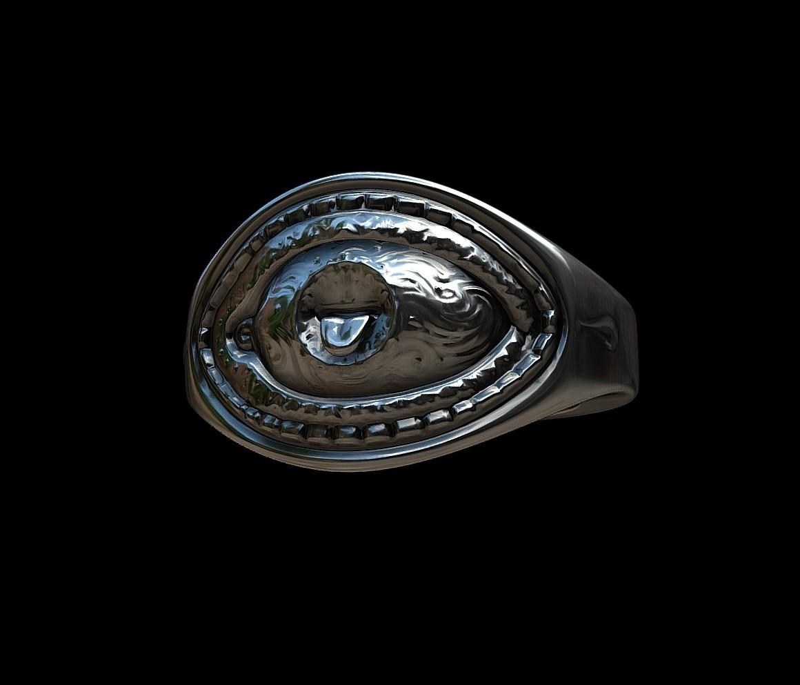 Grimace eye ring by mwopus - 3D model - Sketchfab20180119-005883.jpg Download STL file Grimace eye ring • 3D print object, MWopus